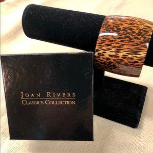 Joan Rivers Jewelry - Signed Joan Rivers Leopard Print Cuff Bracelet
